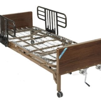 Drive- Manual Hospital Bed 15003BV-HR Half Rails