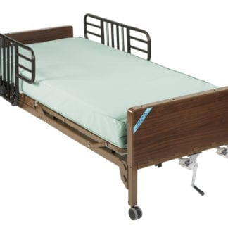 Drive- Manual Hospital Bed 15003BV- PKG-1 with innerspring mattress & Half Rails