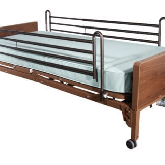 Drive- Manual Hospital Bed 15003BV-PKG-T with Theraputic Support Mattress & Full Rails