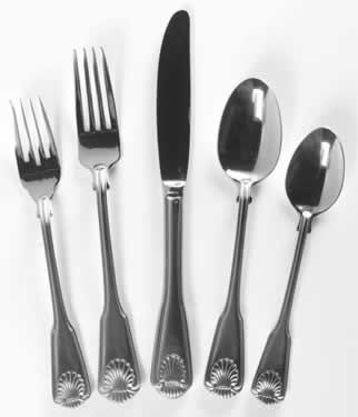 Dessert Fork, Shell Pattern Dessert Fork