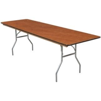 Adult 8 ft Banquet Table, Wooden 8 ft Rectangular Table
