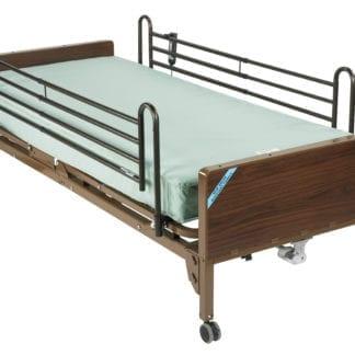 Drive- Full Electric Ulta Light Plus Low Hospital Bed 15235BV-PKG-T with Theraputic Support Mattress & Full Rails