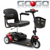 Pride - Go Go Elite Traveler 3 Scooter - 3 Wheel