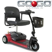 Pride - Go- Go3 Ultra X Scooter - 3 Wheel