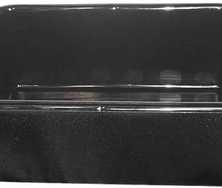 Bus pans, Black Plastic Sturdy Bus Pans