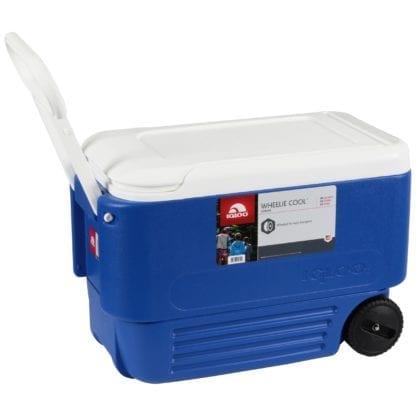 Cooler 54 qt with wheels, Portable Beverage Cooler
