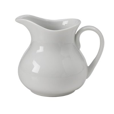 Creamer- White Ceramic - 6 oz- Milk Server