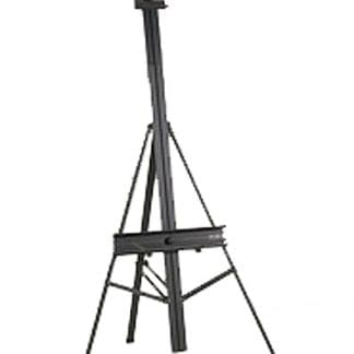 Easel- Metal, Black Metal Folding Easel