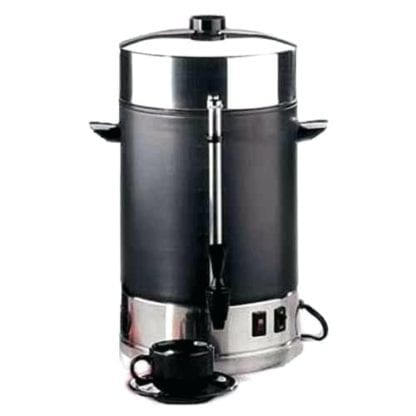 Large coffee maker 30-100 cup, Black and Stainless Coffee Urn