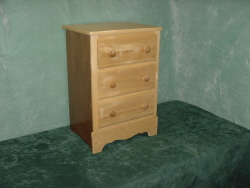 Nightstand / 2 Drawer Dresser, Wooden Nightstand Dresser