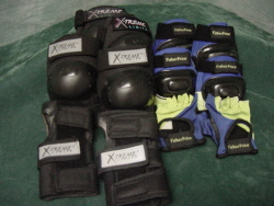 Pads, Full Set, Protective Knee and Elbow Pads