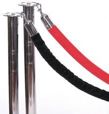 Velvet Rope (6 ft), Black or Red Velvet Stanchion Ropes