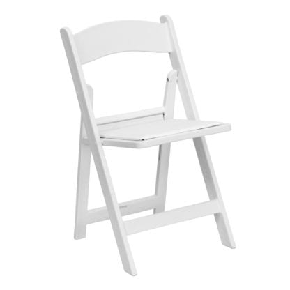 White Padded Folding Chairs, Adult Padded Folding Chair White