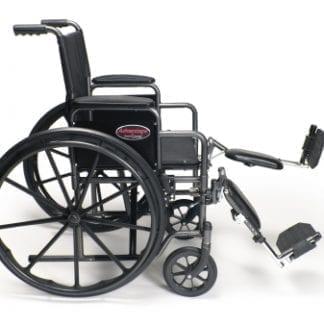 "GF- E&J Wheelchair Advantage 18"" x 16"" Vinyl, FIxed Full Arm, Elevating Legrest 3H011110"