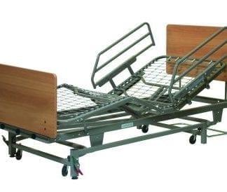GF-Lumex Eze Lok Head and Foot Boards, Rectangular laminate panels, Montana Walnut finish, staff control AB80750