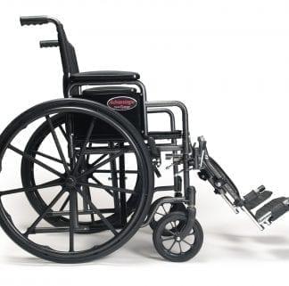 """GF- E&J Wheelchair Advantage 18"""" x 16"""" Vinyl, Detachable Desk Arm, Swingaway Footrest 3H011120"""