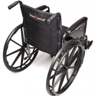 GF- E&J Wheelchair Traveler L3 18X16 Detachable Full Arm, Swingaway Footrest 3F010140