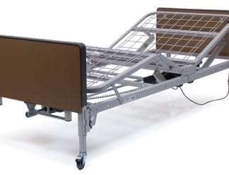 GF- Lumex Patriot Full-Electric Bed with 1633-Innerspring Mattress and Clamp-On Half Chrome Rails, Plastic Ends US0458PL-PKGHRA