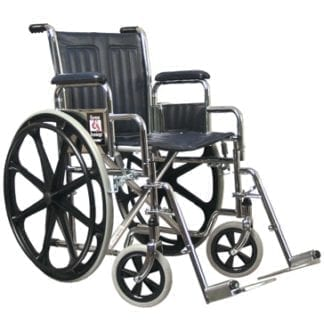 GF- E&J Traveler Wheelchair, 18x16 Fixed Full Arm, Swingaway Footrest 51010100