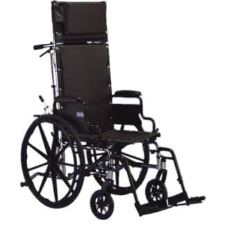 """Invacare- 9000XT Recliner Wheelchair 18""""x17"""" Recliner Frame with Fixed Height Conventional Desk arm and Reclining Back 9RCP"""