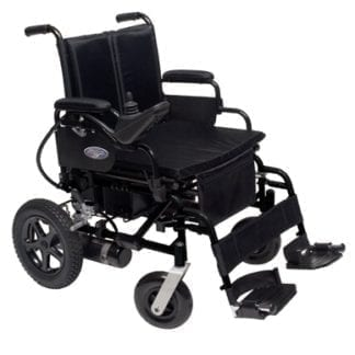 GF-Metro Power III Wheelchair 16x16 Desk Arms, Swingaway Footrest with Airless Inserts & Batteries 2F100220B