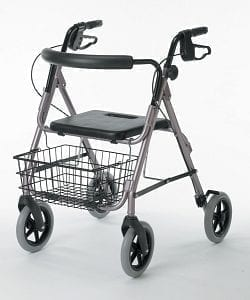 "Medline- Guardian Deluxe Rollator with 8"" Wheels G07887"