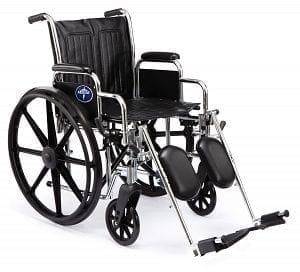 "Medline- Excel 2000 Wheelchair 18"" PERM ARM Fix FT MDS806100D"