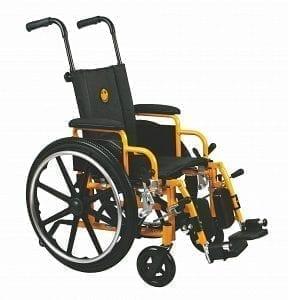 """Medline- Excel Kidz Pediatric Wheelchair 14"""" DLA, ELR MDS806140PEDE"""