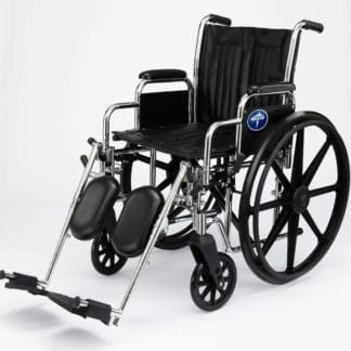 "Medline- Excel 2000 Wheelchair 16"" PERM FLA, S/A FT MDS806150N"