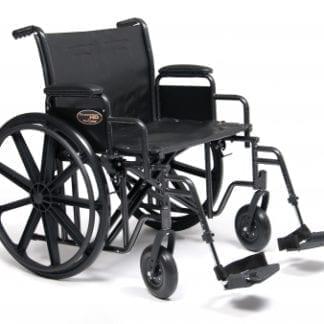 GF- E&J Wheelchair Traveler HD 24X18 Detachable Full Arm, Elevating Legrest 3G010550