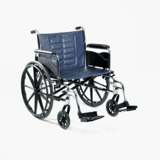 "Invacare- Tracer IV Heavy Duty Wheelchair 22""x18"" Heavy Duty Frame with Fixed Height Conventional Desk Arm, 8"" Caster and 24"" Rear Wheels T4X22RDAP"