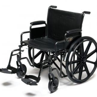 GF- E&J Wheelchair Traveler HD 24X18 Detachable Desk Arm, Swingaway Footrest 3G010520