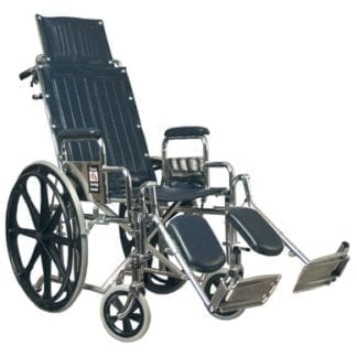 GF- E&J Traveler Reclining Wheelchair,16x17 Detachable Desk Arms, Elevating Legrest 51012230