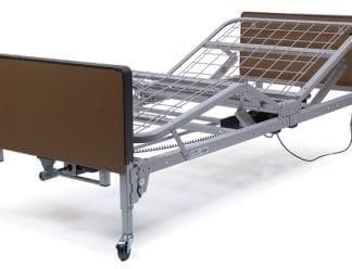 GF- Lumex Semi-Electric Bed with 1633-Innerspring Mattress and FDA Quarter Rails, Plastic Ends US0218PL-PKGQR