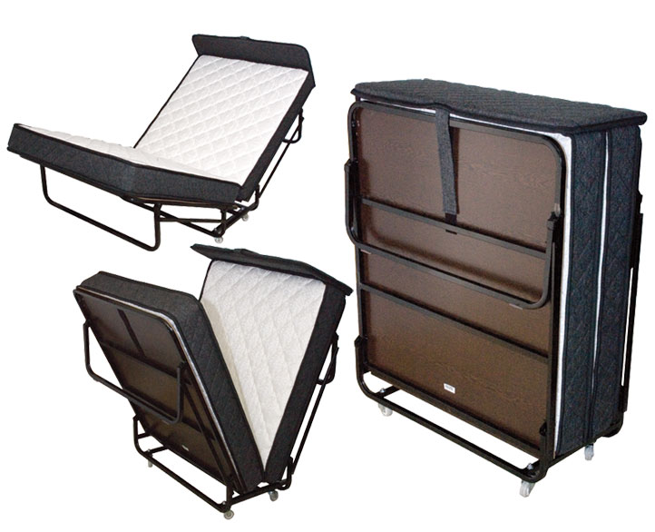 Deluxe Twin size rollaway bed, Folding Bed Twin Size