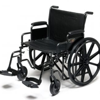 GF- E&J Wheelchair Traveler HD 20X18 Detachable Desk Arm, Swingaway Footrest 3G010320