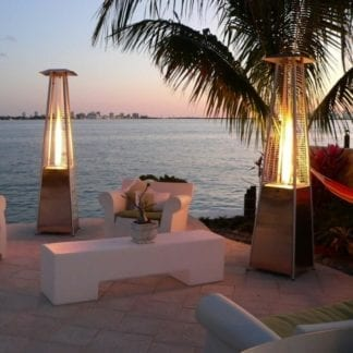 Outdoor Heater, Propane Pyramid Style Patio Heater