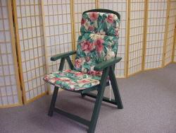 Patio Chair w/ Cushion, Outdoor Chair with Cushion