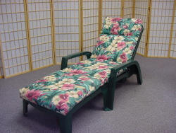 Patio Lounge Chair w/ Cushion, Chaise Lounge