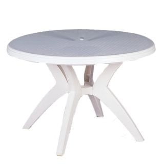"Patio Table, 48"" round Plastic Outdoor Patio Table"