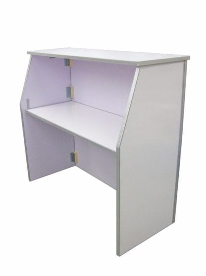 Portable Bar 4', White Portable Folding Bar 4 ft Long