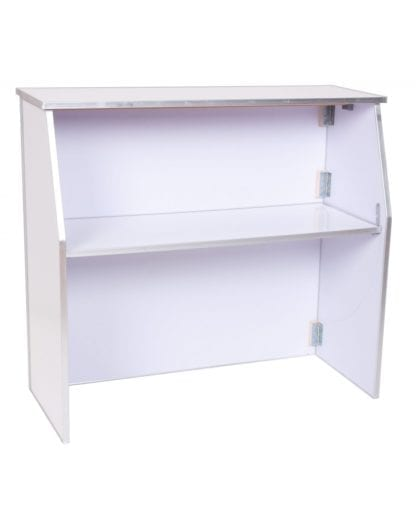 Portable Bar 6', White Portable Folding Bar 6 ft long