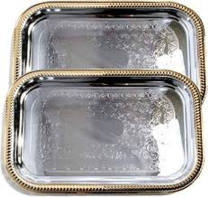 Serving Tray, Silver Serving Tray, Round or Rectangular Serving Tray