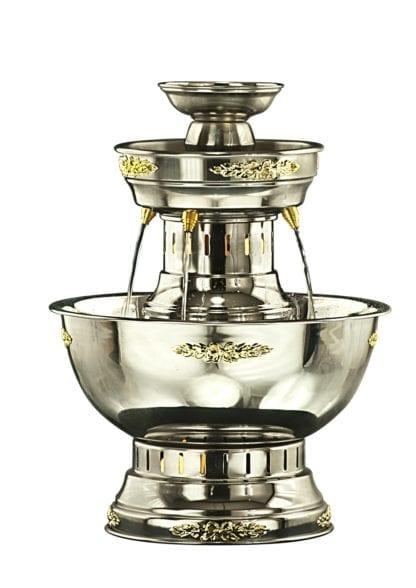 Silver Champagne Fountain, Silver Beverage Fountain 5 Gallon