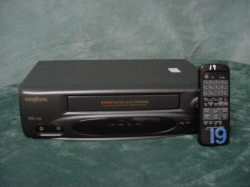 VCR with remote