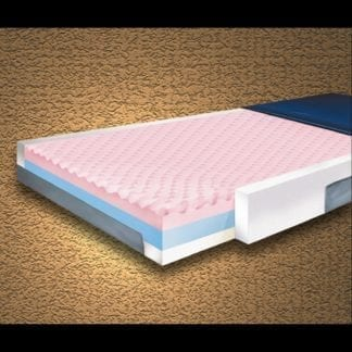 """Mason- Multi-Ply ShearCare700 Pressure Reducing 36""""x80""""x6"""" Mattress with Fire Barrier and Side Rails. 700SC-2"""