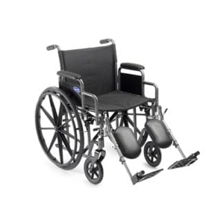 """Invacare- Veranda Wheelchair 18"""" x 16"""" Frame with Permanent Full Length Arms and Footrest. V18PFR"""