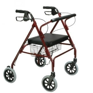 "Temcare- Go-Lite Bariatric Steel 4-Wheel Rollator, 8"" Casters with Loop Locks"