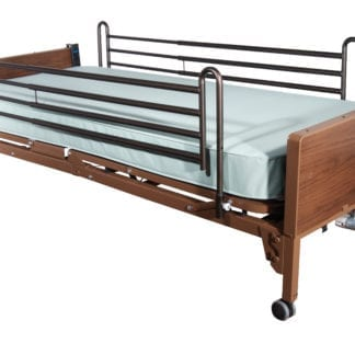 Drive- Semi Electric Hospital Bed 15004BV-PKG-T with Theraputic Support Mattress & Full Rails
