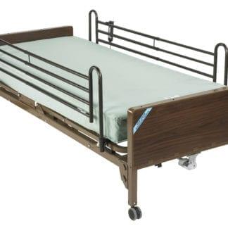 Drive- Semi Electric Ultra Light Plus Hospital Bed 15030BV PKG-2 with Foam Mattress & Full Rails